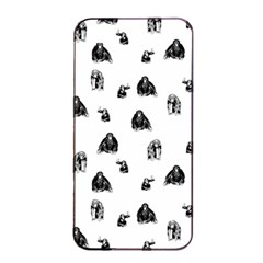 Chimpanzee Apple Iphone 4/4s Seamless Case (black) by Valentinaart
