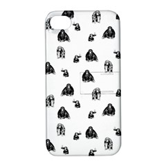 Chimpanzee Apple Iphone 4/4s Hardshell Case With Stand by Valentinaart