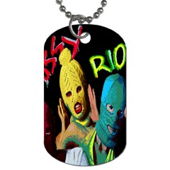 Pussy Riot Dog Tag (two Sides) by Valentinaart