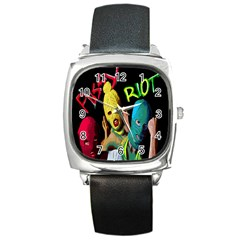 Pussy Riot Square Metal Watch by Valentinaart