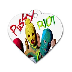 Pussy Riot Dog Tag Heart (one Side) by Valentinaart