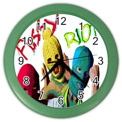 Pussy Riot Color Wall Clocks by Valentinaart