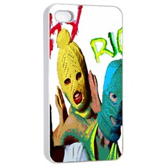 Pussy Riot Apple Iphone 4/4s Seamless Case (white) by Valentinaart