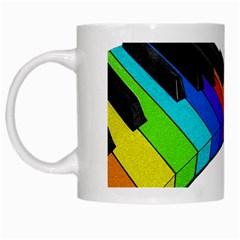 Rainbow Piano  White Mugs by Valentinaart