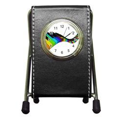 Rainbow Piano  Pen Holder Desk Clocks by Valentinaart