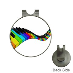Rainbow piano  Hat Clips with Golf Markers by Valentinaart