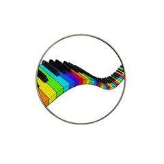 Rainbow Piano  Hat Clip Ball Marker (4 Pack) by Valentinaart