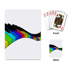 Rainbow Piano  Playing Card by Valentinaart