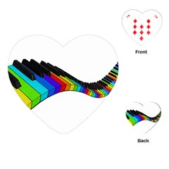 Rainbow Piano  Playing Cards (heart)  by Valentinaart