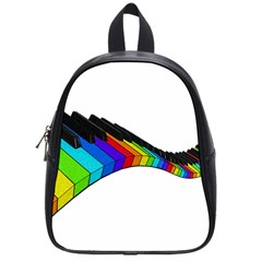 Rainbow Piano  School Bags (small)  by Valentinaart