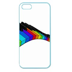 Rainbow Piano  Apple Seamless Iphone 5 Case (color) by Valentinaart