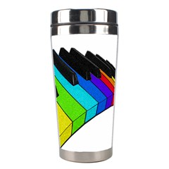 Rainbow Piano  Stainless Steel Travel Tumblers by Valentinaart