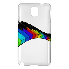Rainbow Piano  Samsung Galaxy Note 3 N9005 Hardshell Case by Valentinaart