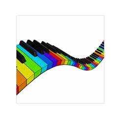 Rainbow Piano  Small Satin Scarf (square) by Valentinaart