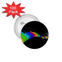 Rainbow Piano  1 75  Buttons (100 Pack)  by Valentinaart