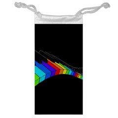 Rainbow Piano  Jewelry Bag by Valentinaart