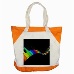 Rainbow Piano  Accent Tote Bag by Valentinaart