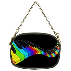 Rainbow Piano  Chain Purses (two Sides)  by Valentinaart