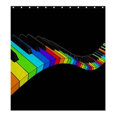 Rainbow Piano  Shower Curtain 66  X 72  (large)  by Valentinaart