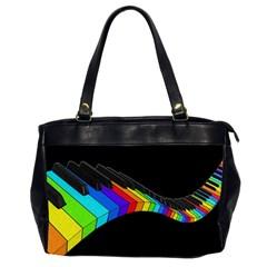Rainbow Piano  Office Handbags (2 Sides)  by Valentinaart