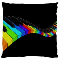 Rainbow Piano  Large Cushion Case (two Sides) by Valentinaart