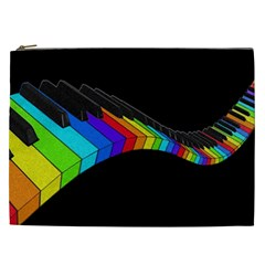 Rainbow Piano  Cosmetic Bag (xxl)  by Valentinaart