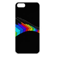 Rainbow Piano  Apple Iphone 5 Seamless Case (white) by Valentinaart