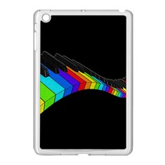 Rainbow Piano  Apple Ipad Mini Case (white) by Valentinaart