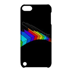 Rainbow Piano  Apple Ipod Touch 5 Hardshell Case With Stand by Valentinaart
