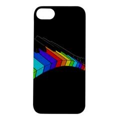 Rainbow Piano  Apple Iphone 5s/ Se Hardshell Case by Valentinaart