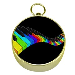 Rainbow Piano  Gold Compasses by Valentinaart