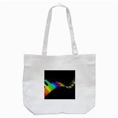 Rainbow Piano  Tote Bag (white) by Valentinaart