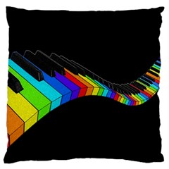 Rainbow Piano  Standard Flano Cushion Case (one Side) by Valentinaart