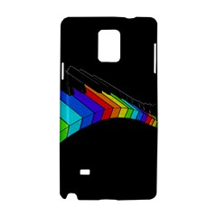 Rainbow Piano  Samsung Galaxy Note 4 Hardshell Case by Valentinaart