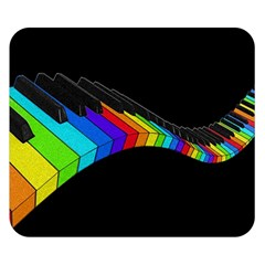 Rainbow Piano  Double Sided Flano Blanket (small)  by Valentinaart
