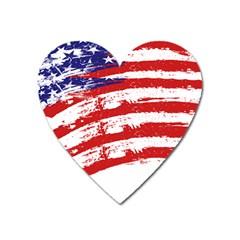 American Flag Heart Magnet by Valentinaart