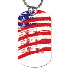American Flag Dog Tag (two Sides) by Valentinaart