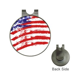 American Flag Hat Clips With Golf Markers by Valentinaart