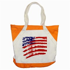 American Flag Accent Tote Bag by Valentinaart