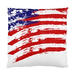 American Flag Standard Cushion Case (one Side) by Valentinaart