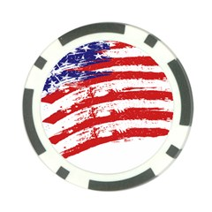 American Flag Poker Chip Card Guard (10 Pack) by Valentinaart