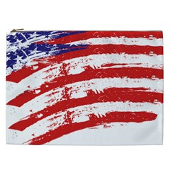American Flag Cosmetic Bag (xxl)  by Valentinaart