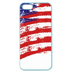 American Flag Apple Seamless Iphone 5 Case (color) by Valentinaart