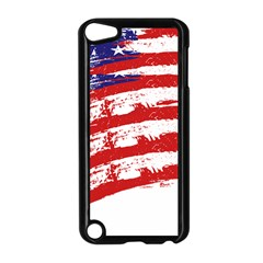 American Flag Apple Ipod Touch 5 Case (black) by Valentinaart