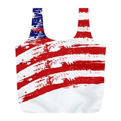 American Flag Full Print Recycle Bags (l)  by Valentinaart