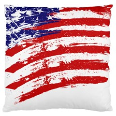 American Flag Large Flano Cushion Case (one Side) by Valentinaart