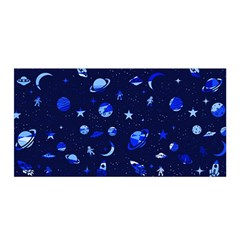 Space Pattern Satin Wrap by ValentinaDesign