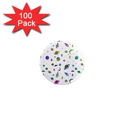 Space Pattern 1  Mini Magnets (100 Pack)  by ValentinaDesign
