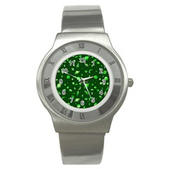 Space Pattern Stainless Steel Watch by ValentinaDesign