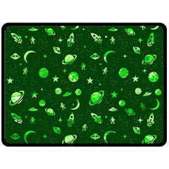 Space Pattern Double Sided Fleece Blanket (large)  by ValentinaDesign